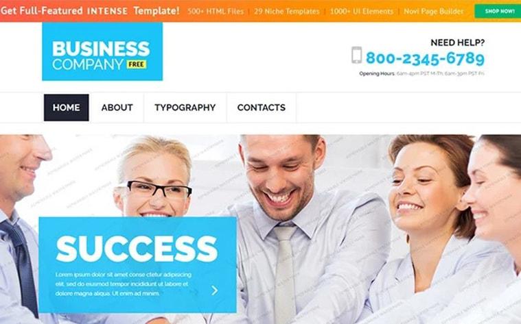 лучший бесплатный шаблон темы ботстрапа веб-сайт бизнес агентство профессионал