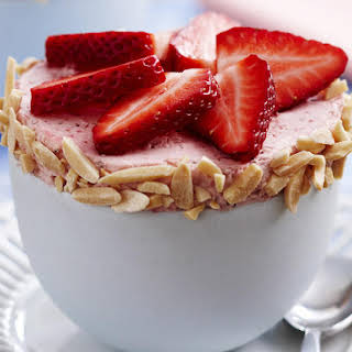 Cold Strawberry Souffle.