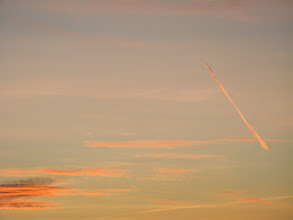 Photo: Samolocik wieczorną zimową porą