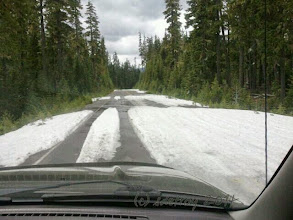 Photo: Grateful to travel with my friend Adrienne into the mountains and we see snow.