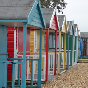 beach huts by Nick Parker - Buildings & Architecture Other Exteriors ( beach huts,  )