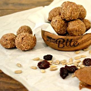 Dark Chocolate Trail Mix Energy Balls {soy free, gluten free, vegan friendly}.