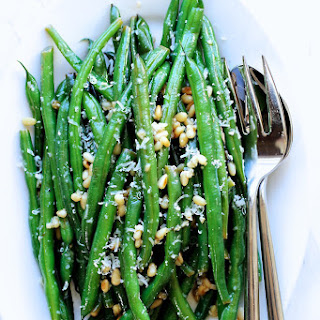 Green Beans with Parmesan and Lemon Butter Sauce.
