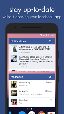 Swipe Widget for Facebook BETA - screenshot