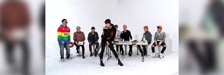 BTS shows off their humorous dancing skills to girl group