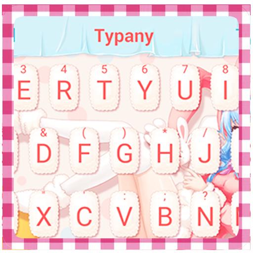 Anime Kawaii Girl Theme&Emoji Keyboard
