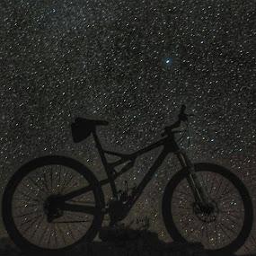 by Justin Ward - Transportation Bicycles ( big bend, mountain biking, riding, stars, nightscapes,  )