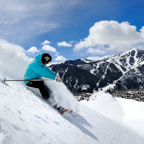 Skiing in Sun Valley, Idaho by Tory Taglio - Sports & Fitness Snow Sports ( baldy, pwcwintersports, ski resort, powder, ketchum, sun valley, skier )