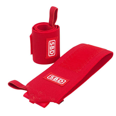 SBD Wrist Wraps Stiff, Red/White