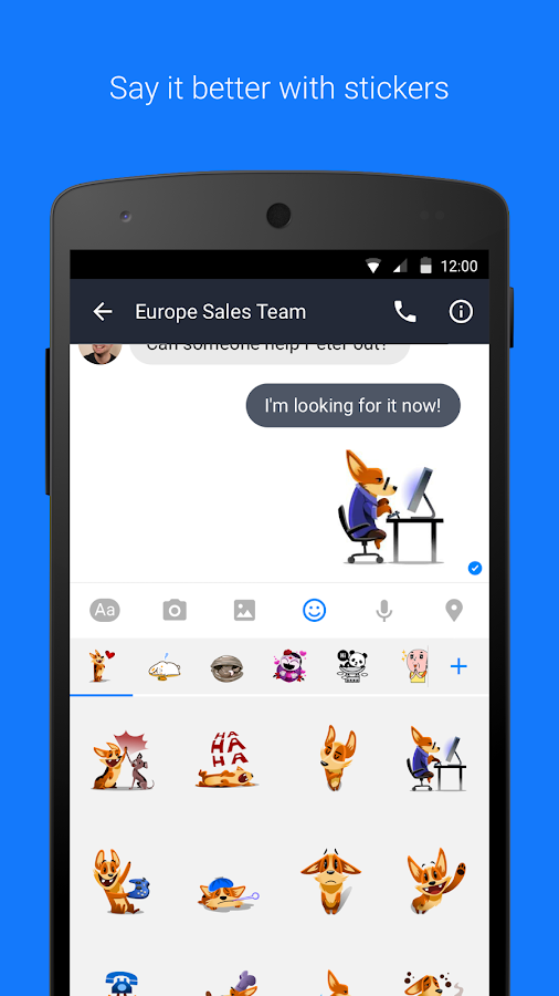 Workplace Chat by Facebook- screenshot