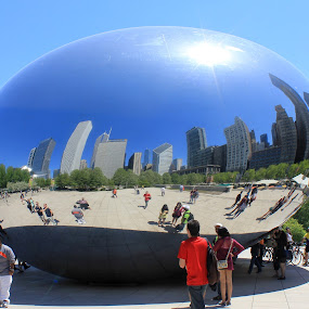 inox(idable) egg... by Cosmin Popa-Gorjanu - City,  Street & Park  City Parks ( park, buildings, chicago, people )