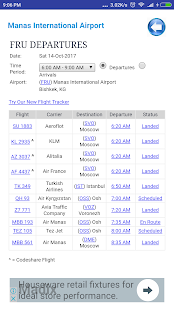 Kyrgyzstan Airports Flight Time - náhled