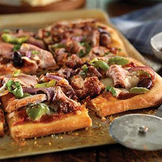 Pork Tenderloin and Sausage Flatbread
