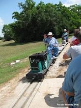 Photo: Passenger train meeting freight at Sumrall.  HALS 2009-0620