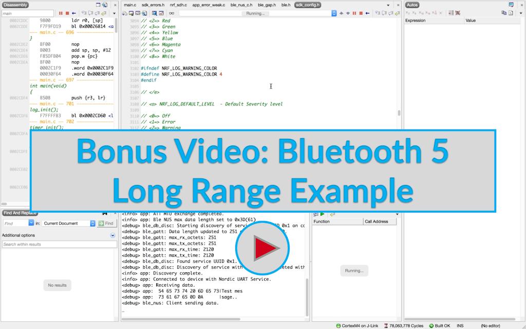 Bonus Video: Bluetooth 5 Long Range Example Image