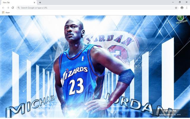 Washington Wizards NBA New Tab Theme