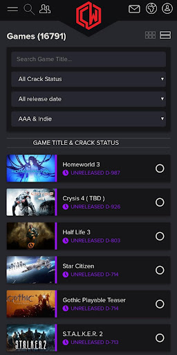 CrackWatch - live crack status of all PC games screenshot 3