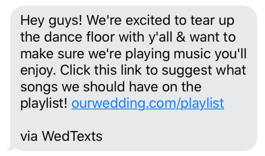 wedding guests look forward to song suggestions