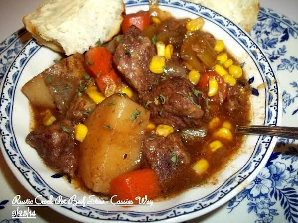 Rustic Crock Pot Beef Stew - Cassies Way ~ Recipe