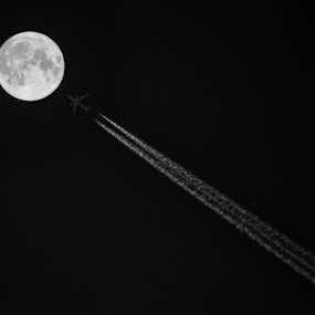 Journey To The Moon by Suman Basak - Transportation Airplanes