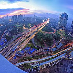 Semanggi by Saiful N. Firmansyah - City,  Street & Park  Night ( semanggi, jakarta, cityscape, bridge, nightscape,  )
