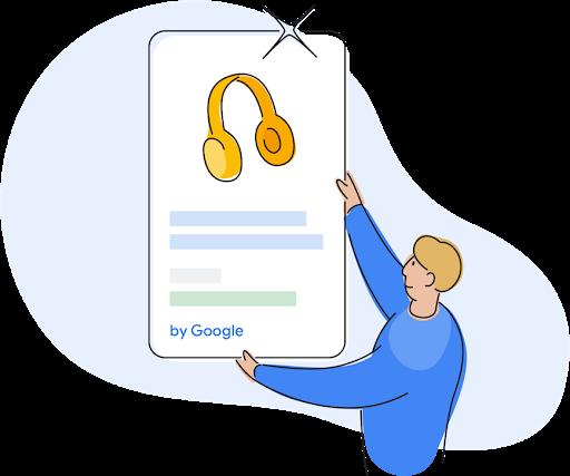 A Google Shopping team member placing a Shopping Ad