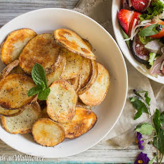 Baked Sea Salt and Pepper Potato Chips.