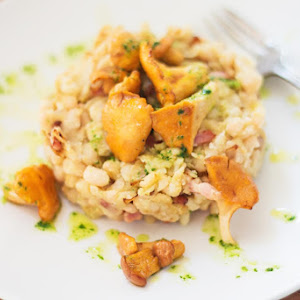 White Beans with Chanterelle Mushrooms
