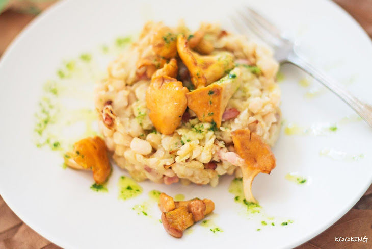 White Beans with Chanterelle Mushrooms Recipe