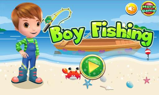 男孩捕魚遊戲的女孩