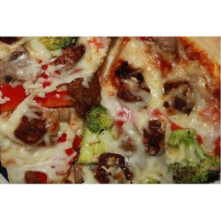Spicy Marinated Lamb Pizza