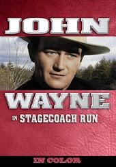 John Wayne in Stagecoach Run (In Color)
