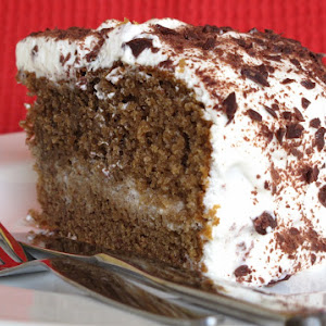 Mocha Coffee Cake with Whipped Cream