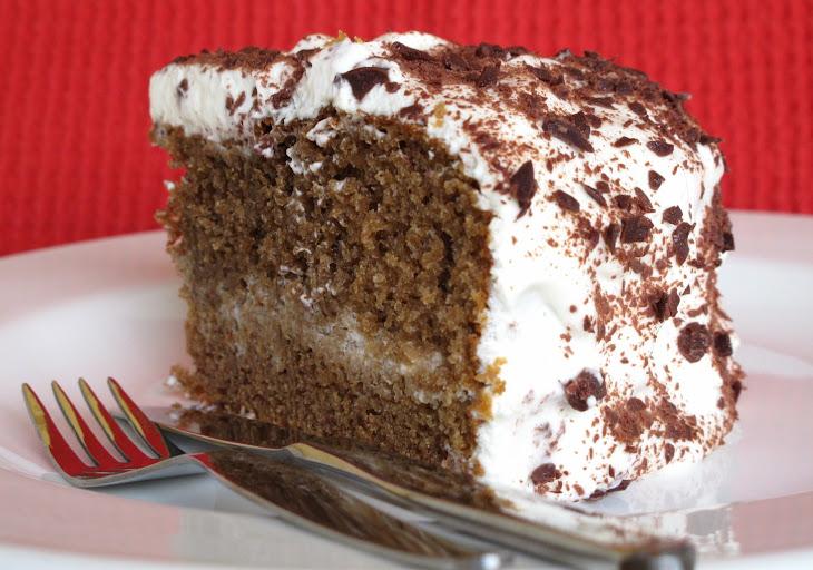 Mocha Coffee Cake with Whipped Cream Recipe