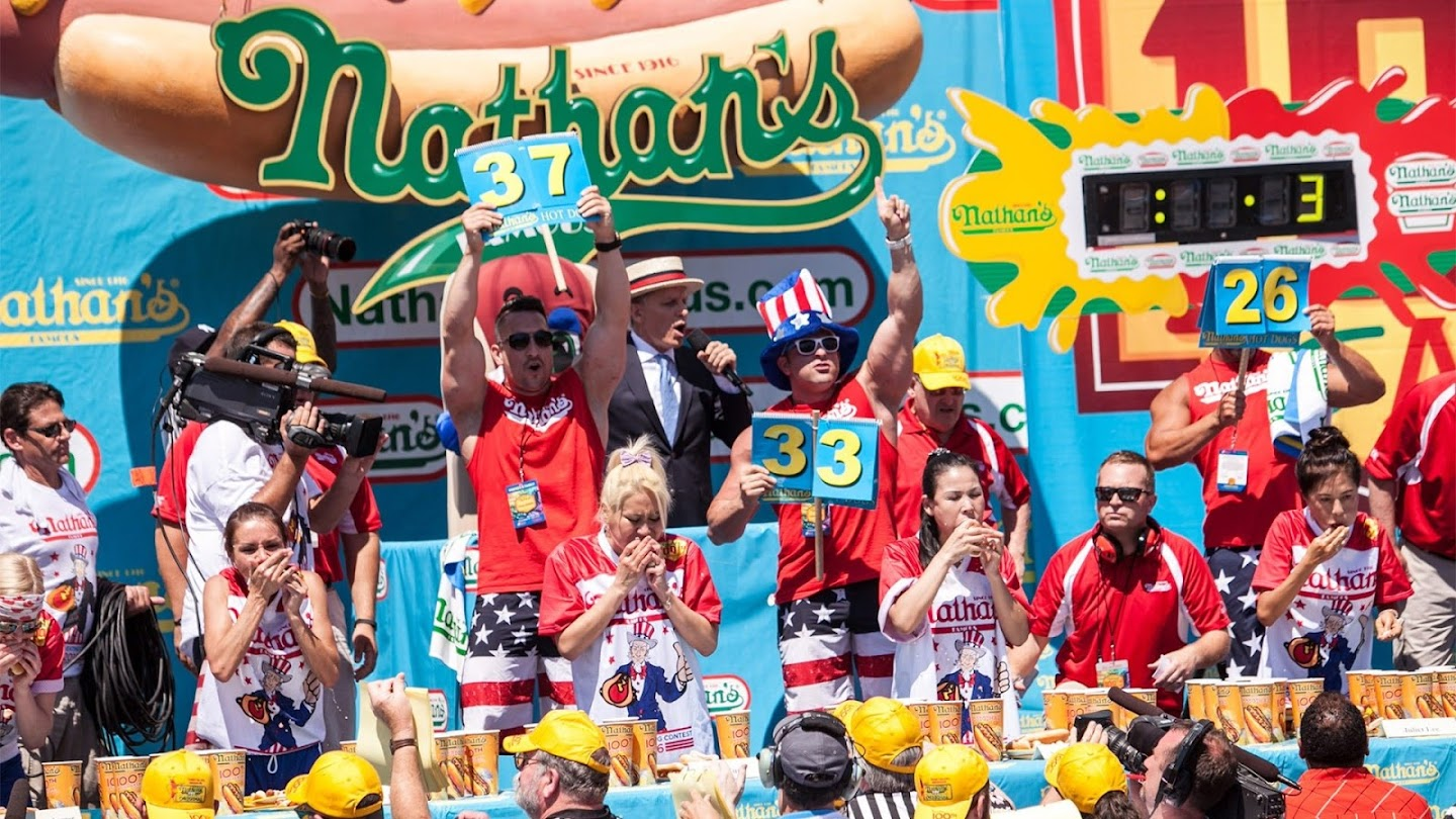 Watch 2010 Nathan's Hot Dog Eating Contest live