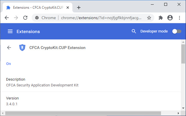 CFCA CryptoKit.CUP Extension