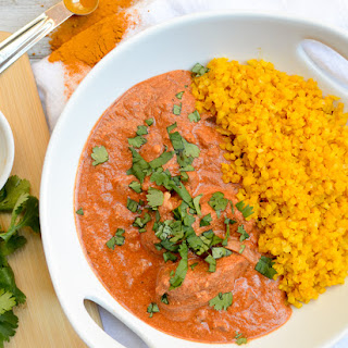 Healthier Chicken Tikka Masala with Turmeric Cauliflower Rice Recipe