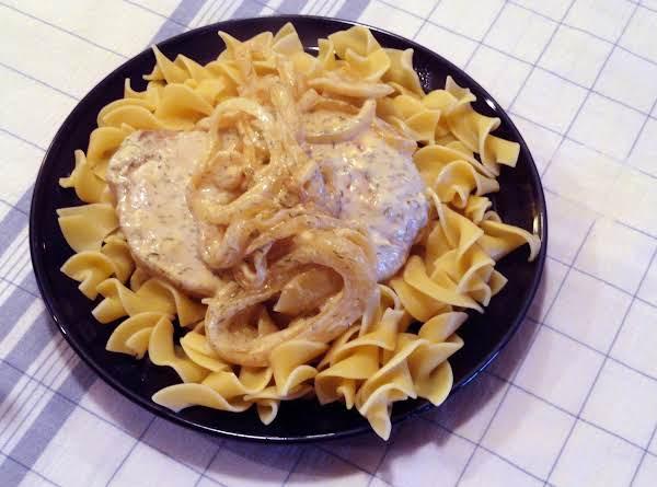 Creamy Champagne Dill Pork Chops Recipe