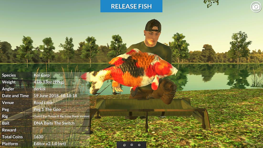 Carp Fishing Simulator - Pike, Perch & More Android App Screenshot
