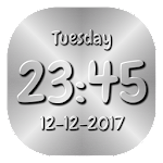 Carved Digital Clock Live Wallpaper 3D with photo 1.00