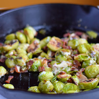 Bacon and Gorgonzola Brussels Sprouts