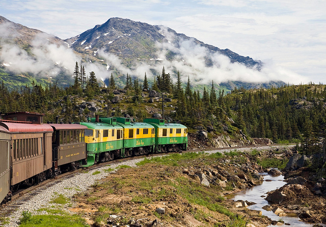 Follow the White Pass Railway to the Yukon from Skagway on a day trip.
