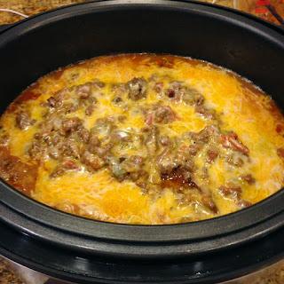 Pressure cooker Enchilada Casserole.