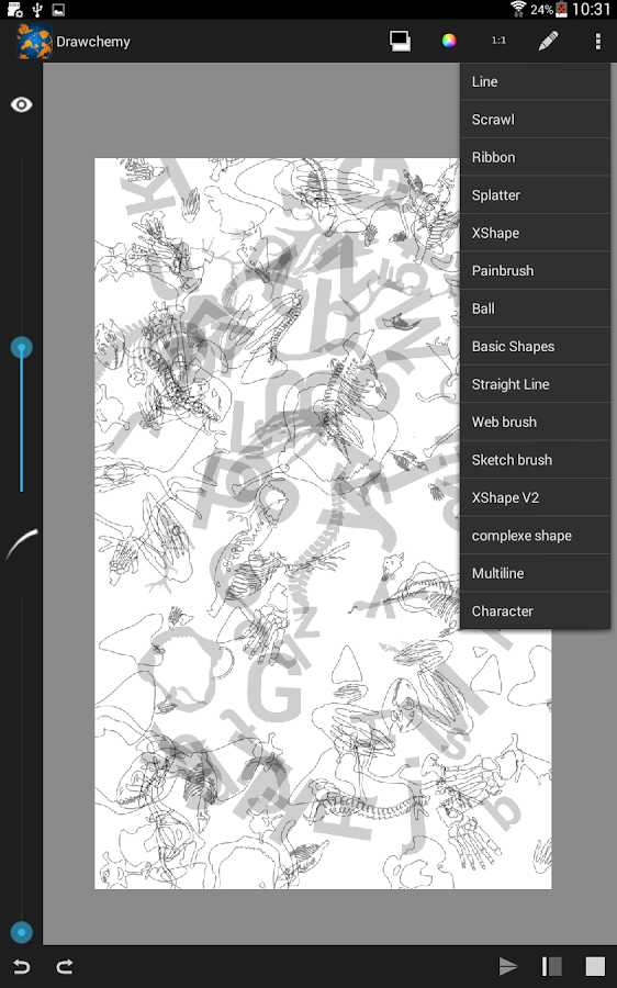 Drawchemy, abstract drawing- screenshot