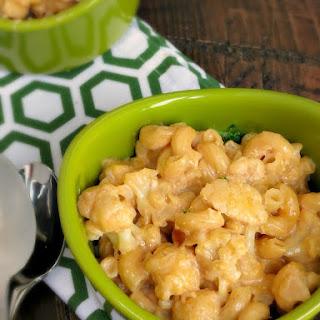 Stove Top Cauliflower Mac and Cheese.