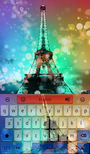 Glowing Paris Keyboard