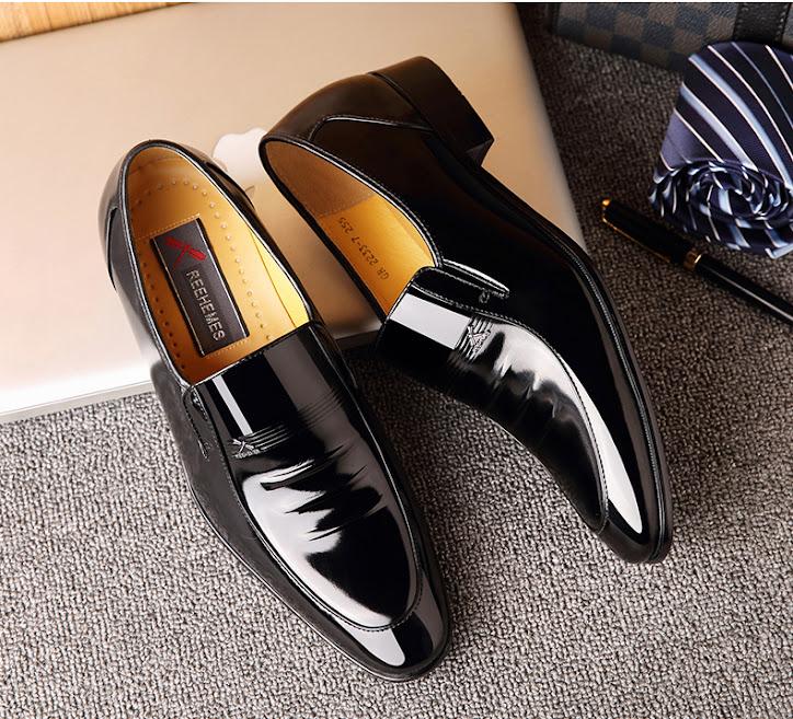 Giày nam công sở  da bò cao cấp RE01-D