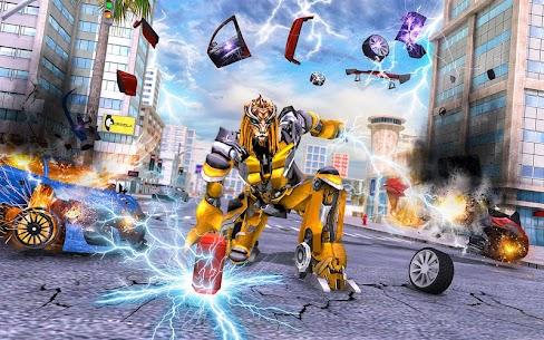 Lion Robot Car: Futuristic Robot Transformation 1