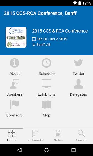 2015 CCS-RCA Conference Banff