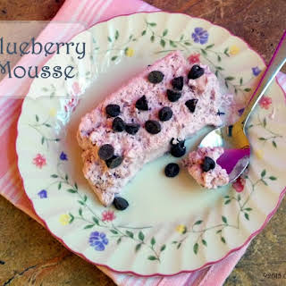 Blueberry Mousse.